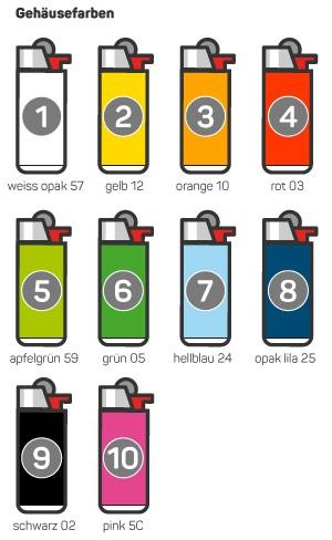 BiC J23 Feuerzeug bedruck farbig online bestellen Shop Schweiz