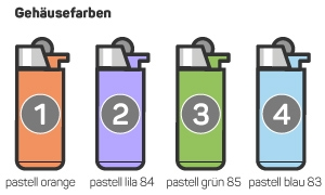 BiC Feuerzeug Pastell Farben Druck Werbefeuerzeug