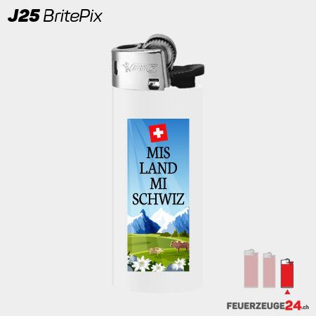 BiC J25 Mini Feuerzeug bedruckt BritePix Digitaldruck