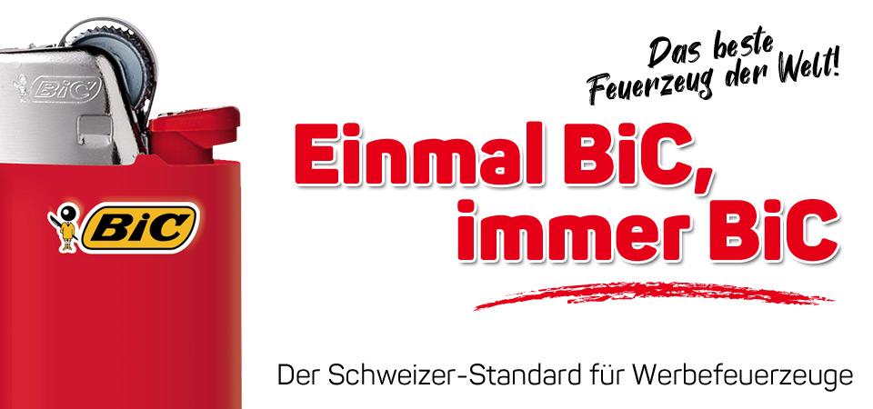BiC Werbe-Feuerzeuge mit Druck bestellen bei Feuerzeuge24.ch