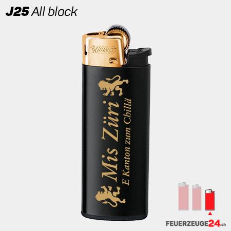 J25 – BiC Feuerzeug in schwarz und Gold