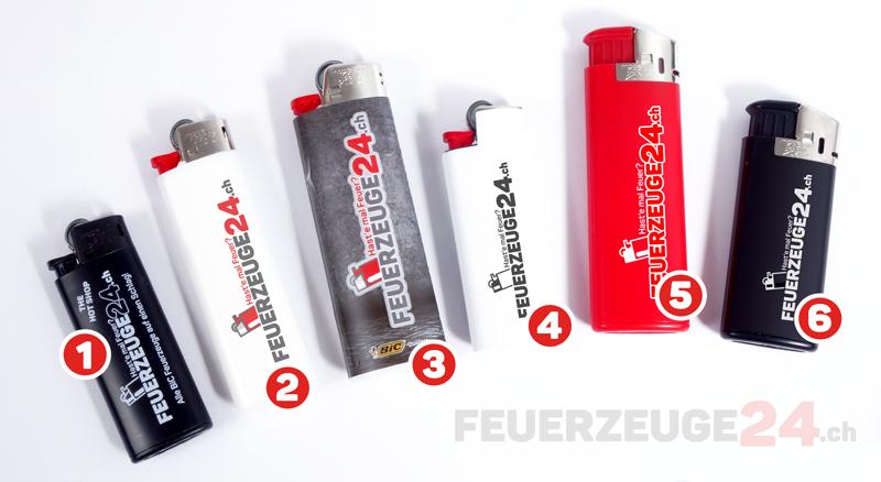 BiC Feuerzeug Modelle mit Druck bestellen